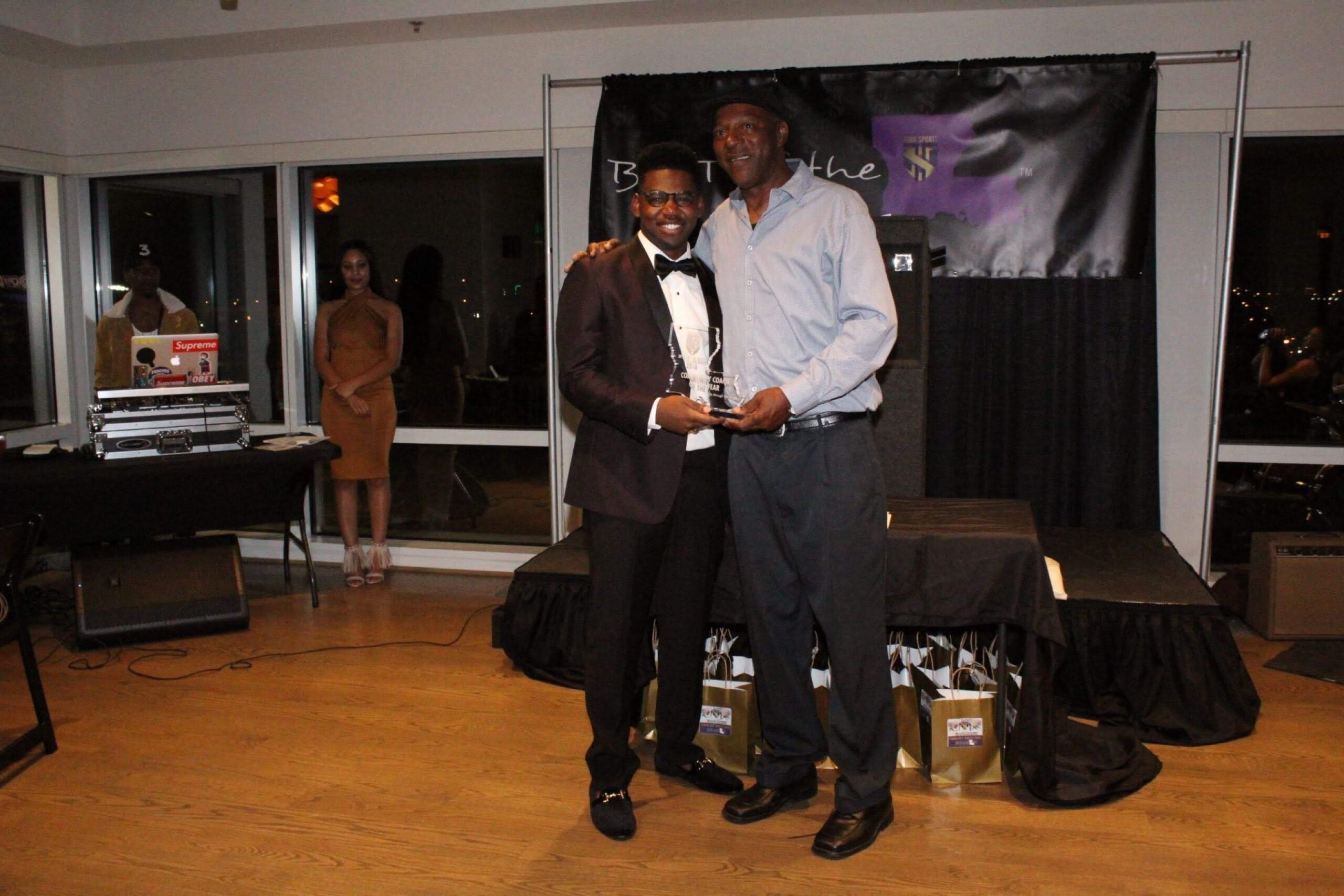 """Kenneth """"Coach K"""" Thompson- Community Coach of the Year with Turk"""