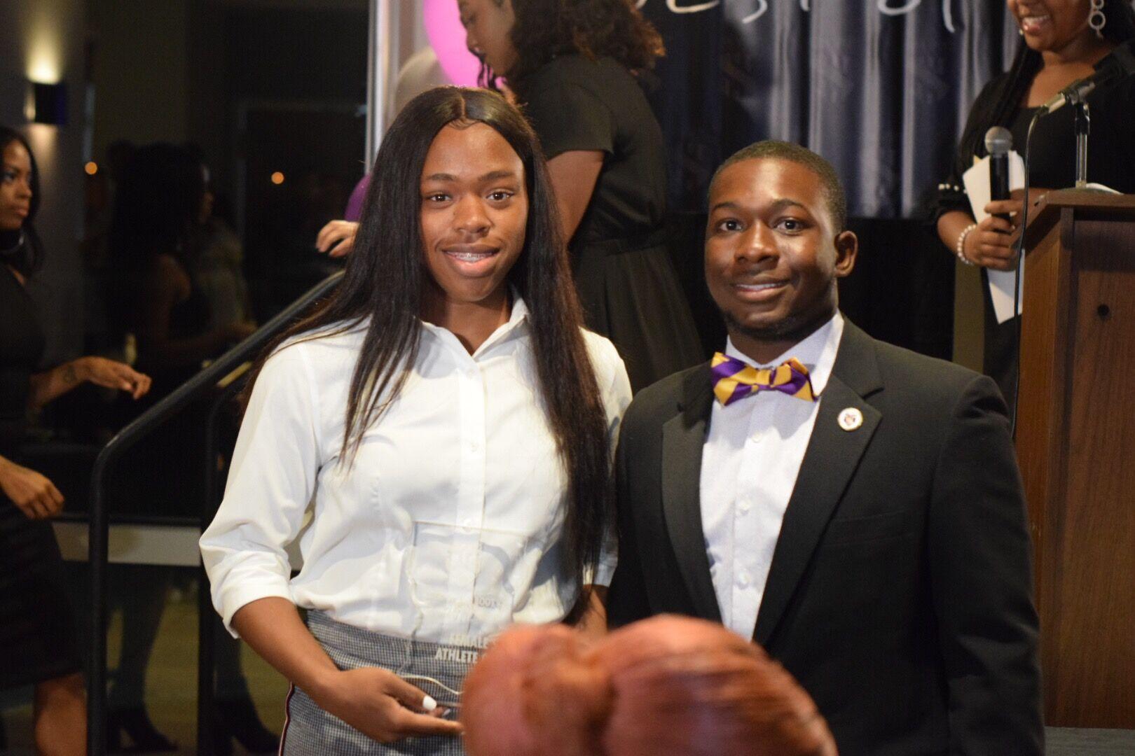 Female Student-Athlete of The Year- Stephanie Daniels w/ Lance Jones