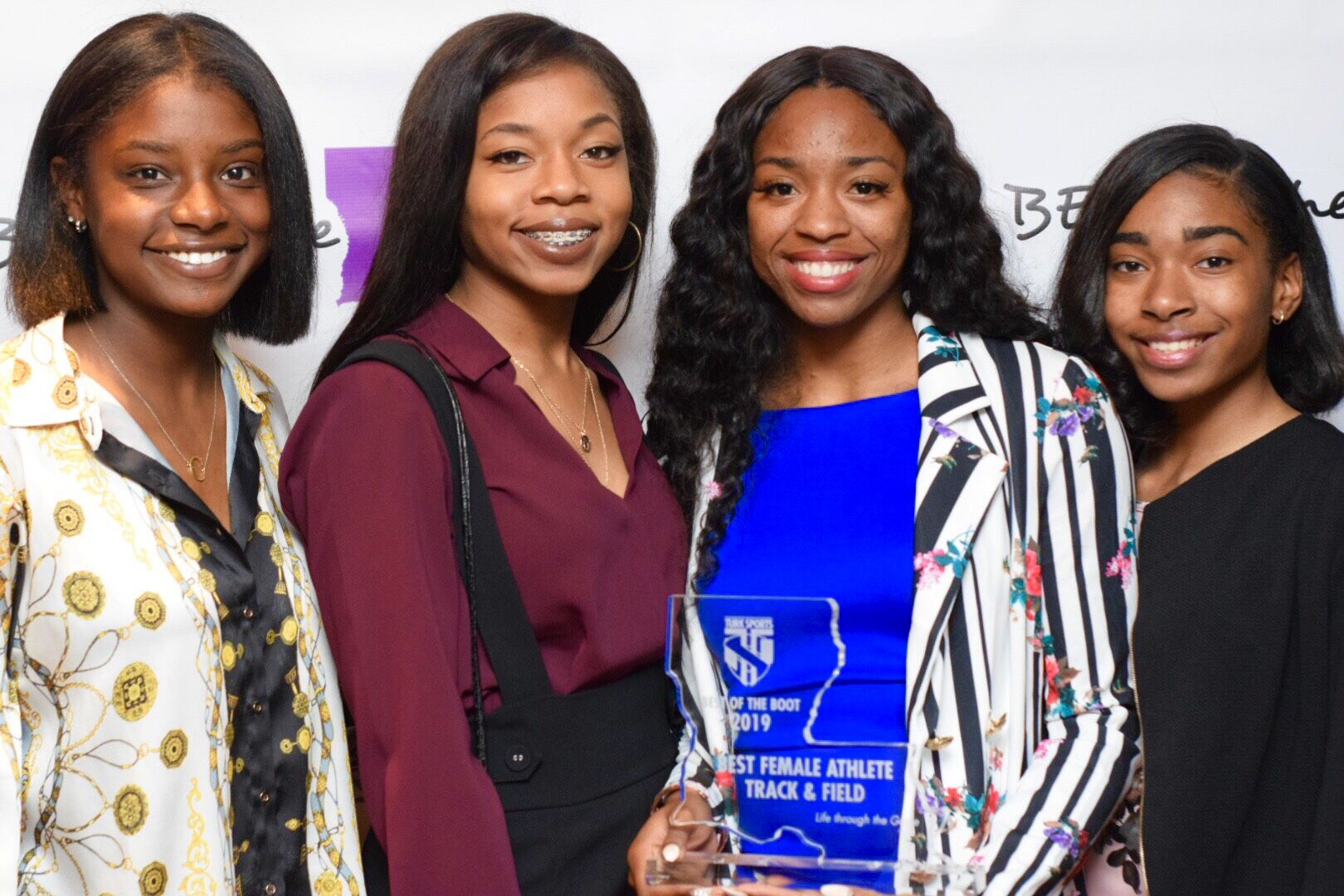Best Female Athlete; Track & Field Alia Armstrong with SKDP teammates