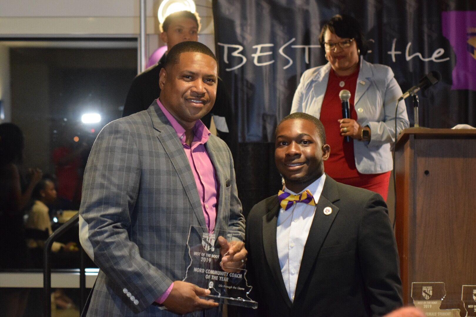"Wendall ""Buddy"" Monroe-NORD Community Coach of The Year w/ Lance Jones"