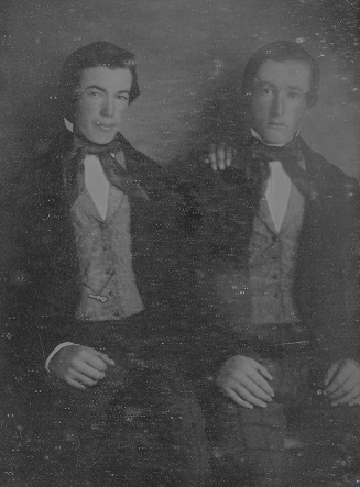 daguerreotype  of two young brothers during Civil War