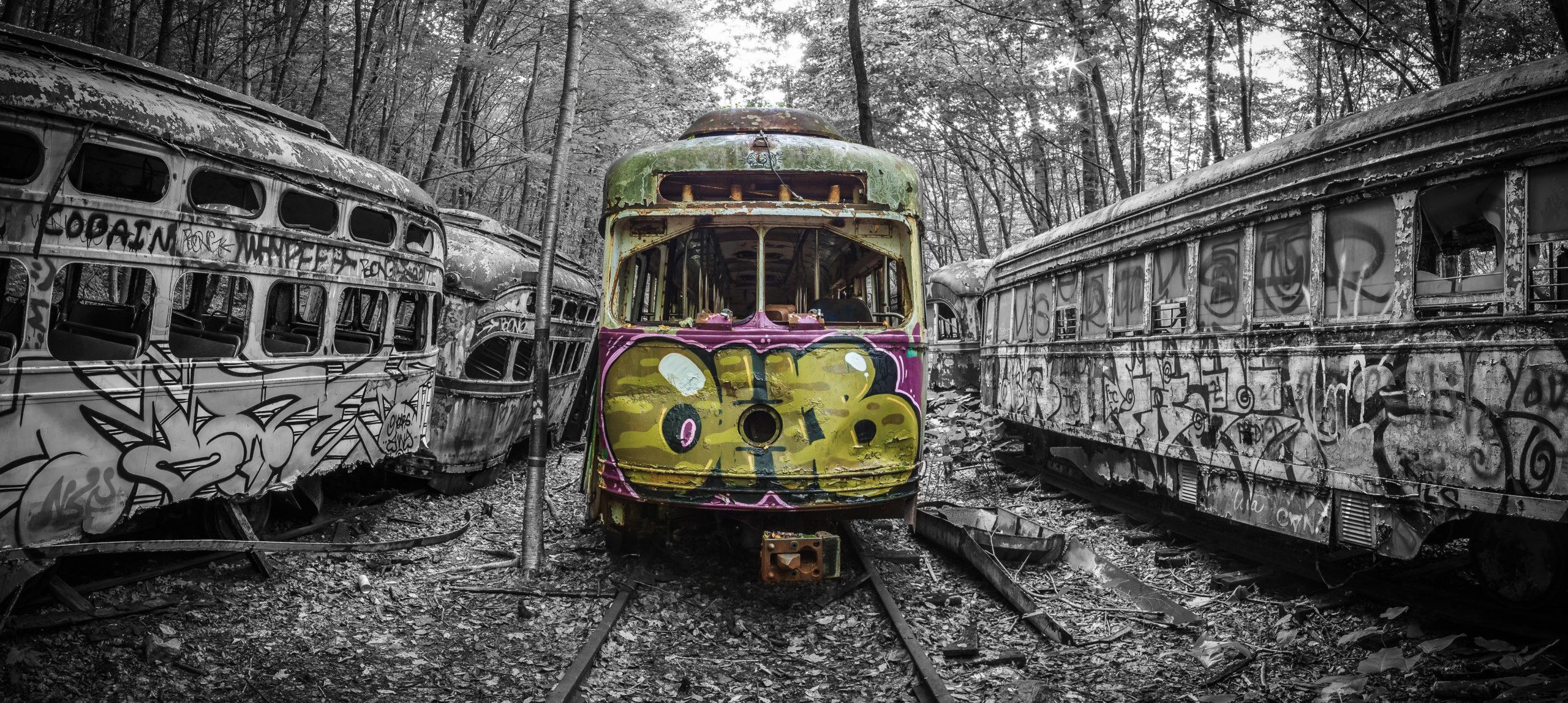 Trolley Graveyard by Michael Hower