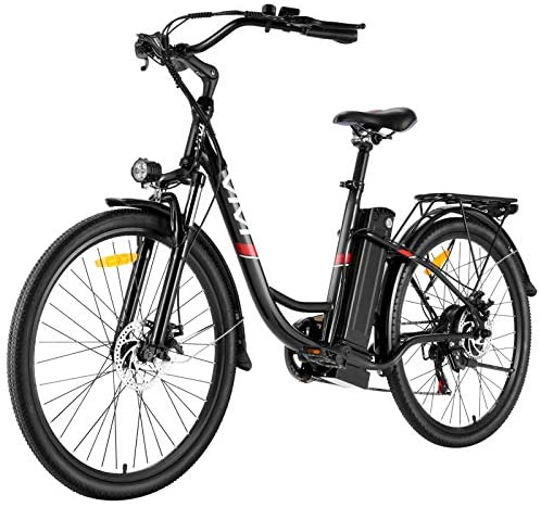 """VIVI Electric Bike 350W Adult Electric Bicycle 26"""" Electric Cruiser Bike/Electric City Bike with Removable 8Ah Lithium-Ion Battery, Shimano 7 Speed"""