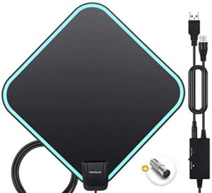 TV Antenna Indoor, BooMood HD Antenna, 320 Miles Long-Range Reception Digital Antenna for Smart TV with Amplifier Signal Booster for 4K 1080P Local Channels with Coaxial Cable Ultra High Definition TV
