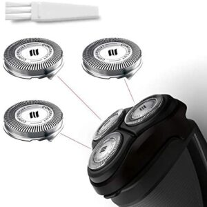 SH30 Replacement Heads for Philips Norelco Series 3000, 2000, 1000 Shavers and S738 Click and Style, 9 Blades Precision Cutting System, ComfortCut Shaving Heads SH30/52