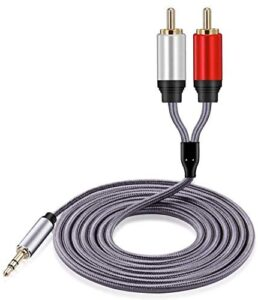 3.5mm to RCA Cable 10FT, Hymeca 3.5mm to 2RCA Audio Auxiliary Adapter Stereo Splitter Cable AUX RCA Y Cord for Smartphone Speakers Tablet HDTV MP3 Player