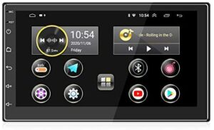 ANKEWAY 2021 New 7 Inch [2G + 16G] Android 10.1 Car Stereo Double DIN with HiFi+WiFi+Bluetooth+RDS+FM+GPS Navigation, 1080P HD Touch Screen Car Digital Internet Multimedia System (2 DIN / 12V)