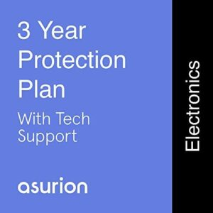 ASURION 3 Year Electronics Protection Plan with Tech Support $125-149.99