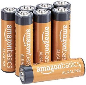 Amazon Basics 8 Pack AA High-Performance Alkaline Batteries, 10-Year Shelf Life, Easy to Open Value Pack