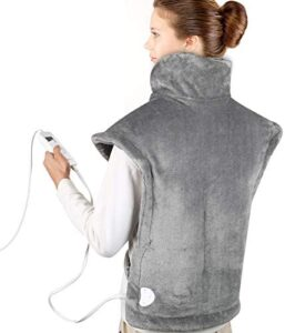 """Belifu Large Electric Heating Pad for Neck, Shoulders and Back Pain, 24""""x33"""" Electric Heat Wrap with Fast-Heating Technology and 6 Heat Settings for Sport Soreness and Cramps Relief, Auto Shut Off"""