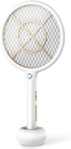 Bug Zapper Electric Fly Swatter USB Rechargeable Fly Zapper Mosquito Zapper for Home and Outdoor 4000 Volts 3-Layer Mesh Safe to Touch