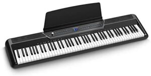Douliemi Weighted Digital Piano with Bluetooth, 88 Key Full Size Weighted Electric Keyboard Piano for Beginners, Portable Electric Piano Keyboard with MIDI, Sustain Pedal, Headphone Audio Output