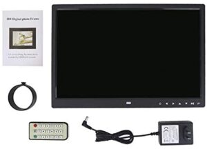 FOLOSAFENAR Touch Digital Picture Frame Smart Photo Frame 15 Inch Touch LED Screen 1280X800 IPS Hd Display Music and Alarm Function with Controller Charger (Us Plug) User Manual(Black)