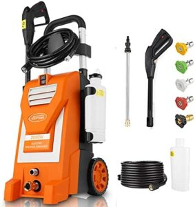 Kepma Electric Pressure Washer, 3800PSI 3.0GPM Power Washer 2000W High Pressure Cleaner Machine with 5 Nozzles, Foam Cannon for Car Washing, Driveways, Patios, Fences, Garden