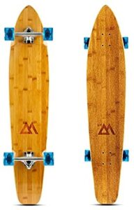 Magneto 44 inch Kicktail Cruiser Longboard Skateboard | Bamboo and Hard Maple Deck | Cruising, Carving, Dancing, Free-Style Tricks Carver | Made for Beginners Teens Adults Men Women
