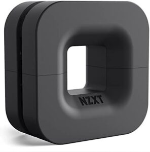 NZXT Puck - BA-PUCKR-B1 - Cable Management and Headset Mount - Compact Size - Silicone Construction - Powerful Magnet for Computer Case Mounting - Black