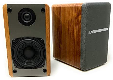Singing Wood T25 Passive 2 Way Bookshelf Speakers with preinstalled Wall Mount Bracket- 4 inch woofer and Silk Dome Tweeter- Receiver or Amplifier Needed to Operate- 60 Watts(Beech Wood-Pair)