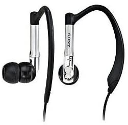 Sony MDR-EX81LP High Performance Ultra-Secure Fit Earbud Style Stereo Headphones in Black