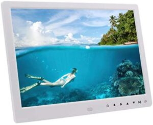 Surebuy Touch Digital Picture Frame Smart Photo Frame 12 Inch Touch Led Screen 1280X800 IPS Hd Display Music and Body Motion Detection Function with Remote Controller User Manual (White)