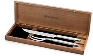 Wusthof 9711-3 Stainless Carving Set, 2-Piece, Silver