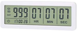 AIMILAR Digital Countdown Days Timer - AY4053-White Upgraded Big 999 Days Count Down Clock for Vacation Retirement Wedding