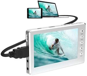 """DIGITNOW HD Video Capture Box 1080P 60FPS USB 2.0 Video to Digital Converter with 5"""" OLED Screen, AV&HDMI Video Recorder Capture from VCR, DVD, VHS Tapes, Hi8, Camcorders, Gaming Systems -Silver"""