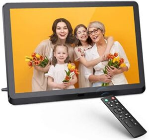 Digital Photo Frame 10 inch Digital Picture Frame with HD IPS Display Photo/Music/Video Player Calendar Alarm Auto On/Off Timer Remote Control
