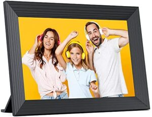 Digital Picture Frame WiFi 10.1 Inch, Photo Frame Built-in 16GB Storage HD Touch Screen, Auto-Rotate, Wall-Mountable, Share Photos/Videos via Frameo App from Anywhere