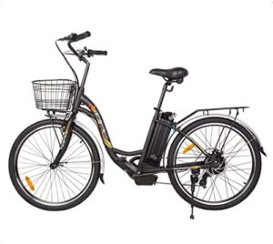 """ECOTRIC 26"""" Electric Bicycle 350W Motor 36V/10AH Powerful Throttle & Pedal Assist Moped City Tire Ebike Bike w/Basket - You Will Receive (2) Packages"""