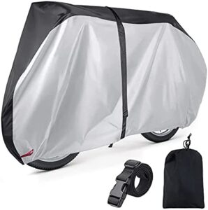 EUGO Bike Cover for 2 or 3 Bikes Outdoor Waterproof Bicycle Motorcycle Covers XL XXL Oxford Fabric Rain Sun UV Dust Wind Proof for Mountain Road Electric Bike