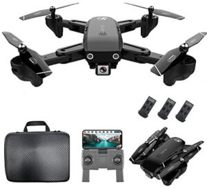 GoolRC CSJ S166 GPS RC Drone with 1080P HD Camera Follow Me Auto Return WiFi FPV Live Video Gesture Photos RC Quadcopter for Adults with 3 Battery and Handbag