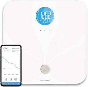 Greater Goods Digital Smart Scale for Body Weight   US-Based Company Powered by Superior Service & Dependable Products (White WiFi)