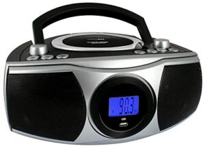 HANNLOMAX HX-315CD Portable CD/MP3 Boombox, AM/FM Radio, Digital Radio Frequency, Bluetooth, USB Port for MP3 Playback, LCD Display,Aux-in, AC/DC Power Source (Black)