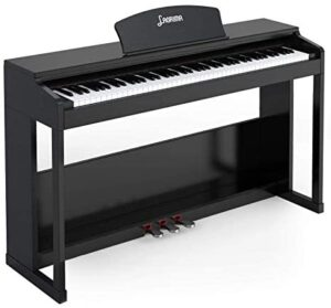LAGRIMA LG-803 88-Key Weighted Hammer Action Digital Piano with Full-Size Weighted Keys | Muti-functional Piano with 3 Pedals and Bluetooth | Multi-tone Selection - Black