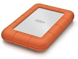 LaCie Rugged Mini 2TB External Hard Drive Portable HDD - USB 3.0 USB 2.0 Compatible, Drop Shock Dust Rain Resistant Shuttle Drive, For Mac And PC Computer (LAC9000298)