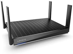 Linksys AX6000 Smart Mesh Wi-Fi 6 Router for Home Mesh Networking, MU-MIMO Dual-Band AX Wireless Gigabit Mesh Router, Fast Speeds up to 6.0 Gbps, coverage up to 3,000 sq ft, up to 40 devices (MR9600)