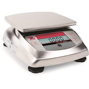 Ohaus Valor 3000 V31XW6 AM Washdown Compact Stainless steel Food Scale 6kgX2g, New