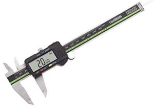 Sattiyrch Digital Caliper Stainless Steel with Large LCD Screen 6 Inch Millimeter Fractions Conversion Electronic Vernier Caliper Measuring Tool (6 inch)