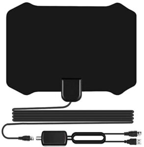 Sodysnay TV Antenna for Digital TV Indoor, Amplified HD Digital TV Antenna with 120 Miles Long Range, Support 4K 1080P for Indoor with Powerful HDTV Amplifier (W222)