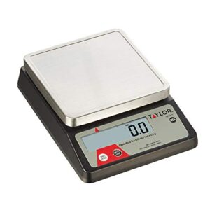 Taylor Precision Products Control Kitchen Scale Compact Digital Portion, Universal, Black