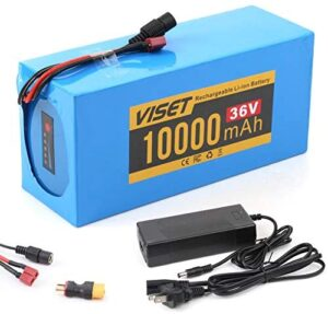 VISET Ebike Battery Pack 36V 48V 20Ah 14Ah 10Ah Electric Bike Lithium Battery with 2Ah Charger for 350W 450W 750W 500W 800W Electric Bicycle Motor