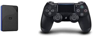 WD 4TB Gaming Drive Works with Playstation 4 Portable External Hard Drive - WDBM1M0040BBK-WESN & DualShock 4 Wireless Controller for Playstation 4 - Jet Black