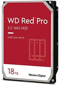 """Western Digital - WD Red Pro 18TB 3.5"""" NAS Hard Disk Drive - 7200 RPM, SATA 6 Gb/s, CMR, 256 MB Cache, 3.5"""" Internal HDD, Crypto Chia Mining - WD181KFGX - BROAGE HDMI Cable"""