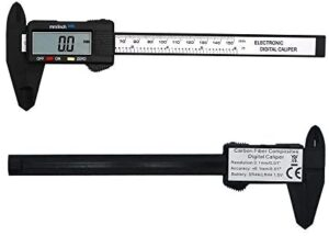 Zoostliss 150mm LCD Digital Electronic Carbon Fiber Vernier Calipers Gauge Micrometer with Large LCD Screen Display Inch/Metric