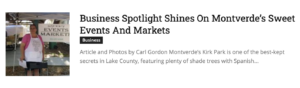 Sweet Events & Markets | South Lake Tablet Feature