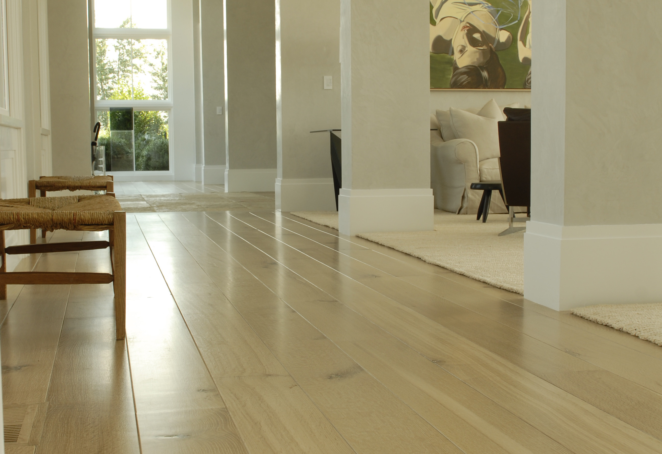 Woodwrights Wide Plank Flooring, Oak Knotted