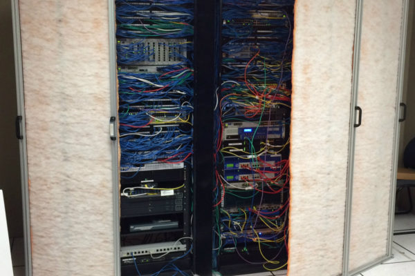 IT equipment protection filter before construction work