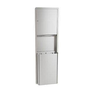 Bradley 234 Surface Mount Paper Towel Dispenser & Waste Receptacle