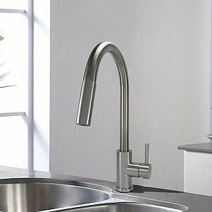 SS Kitchen Faucet Single Handle Pulldown Ceramic Cartridge