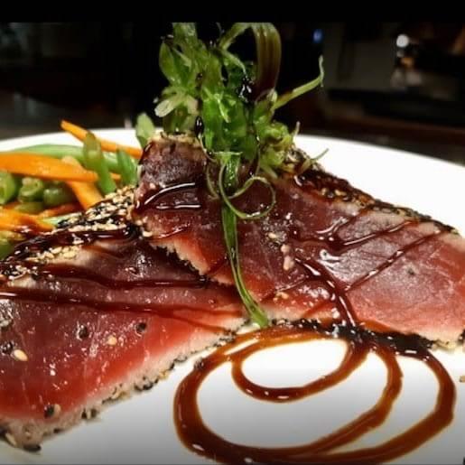 Tuna slices